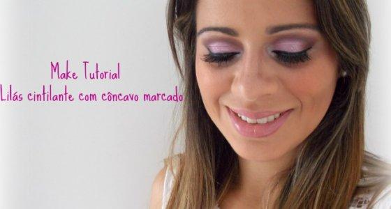 Tutorial:Maquiagem Lilas Cintilante com Côncavo marcado!