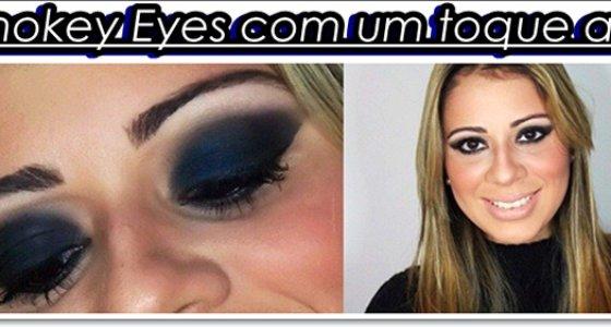 Make Tutorial: Smokey Eyes com um toque azul
