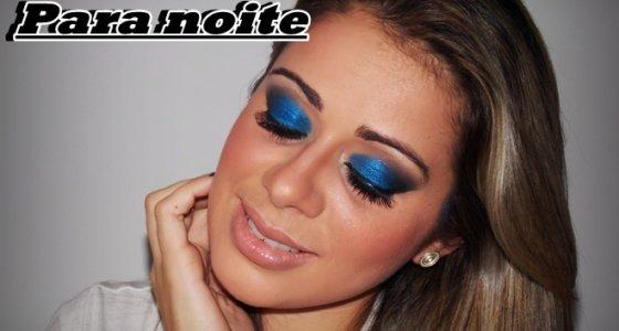 Tutorial: Maquiagem azul Vibrante para noite