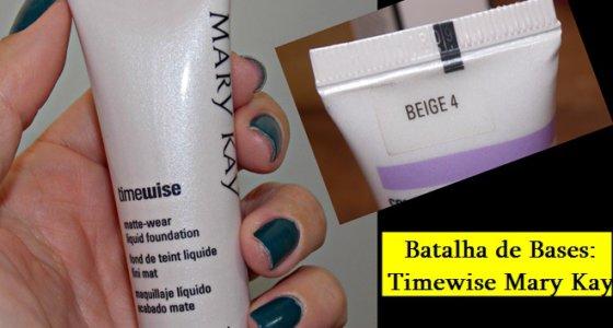 Batalha de Bases: Timewise Mary Kay (ideal para peles oleosas)