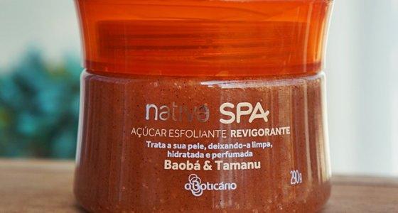 Açucar esfoliante Revigorante Baobá e Tamanu | Nativa Spa
