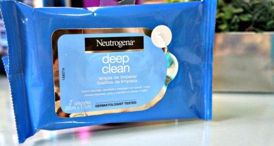 Lenços de limpeza facial Neutrogena Deep Clean