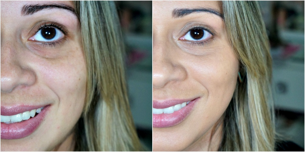 antes e depois da base true match