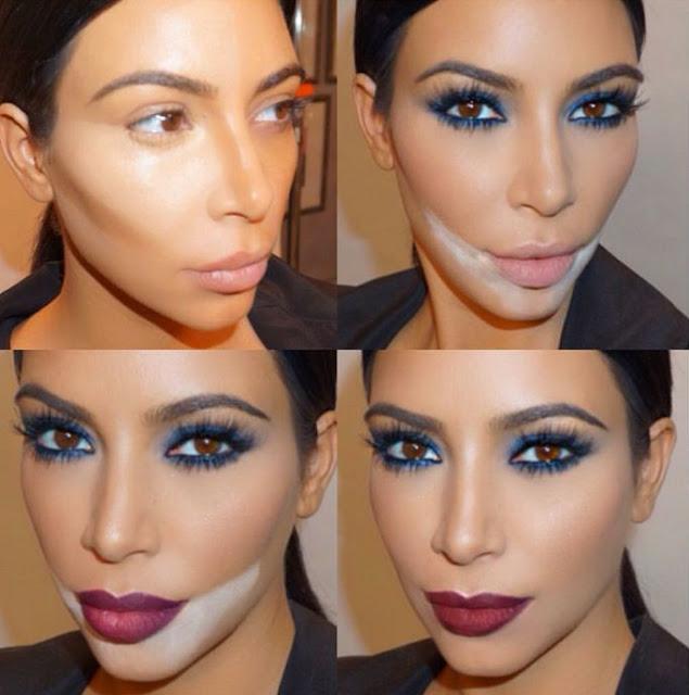 contorno -labial -Kim- kardashian