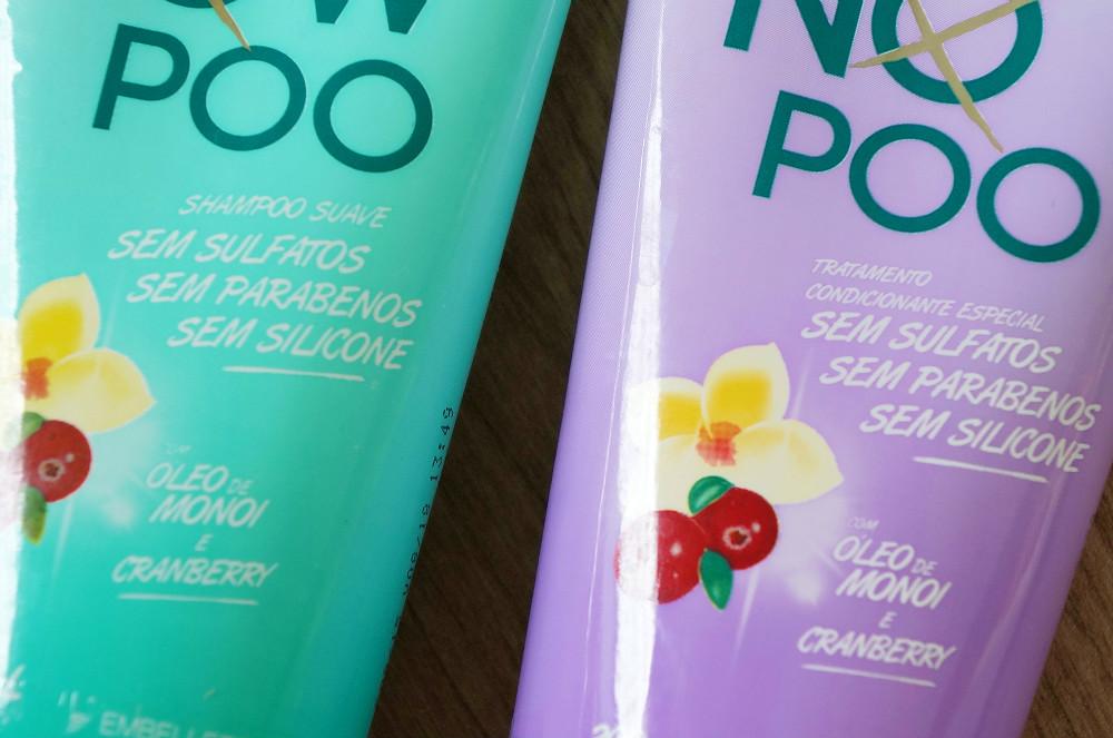 Novex- Low- poo- e -No- poo- embelleze