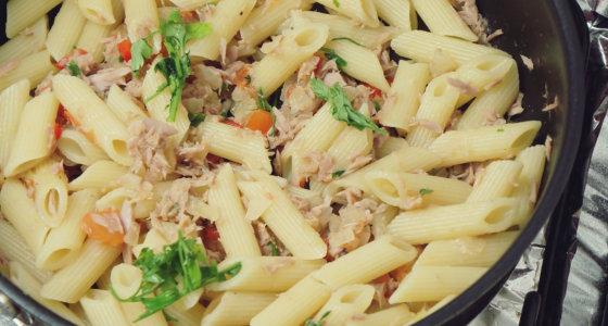 Macarrão com atum | Almoço da correria