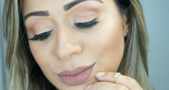 Maquiagem olho esfumado simples e neutro