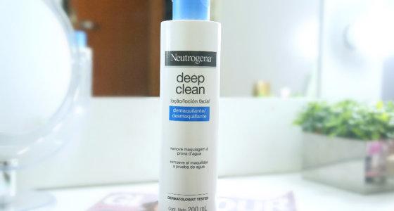 Loção demaquilante Deep clean Neutrogena | Removendo a maquiagem