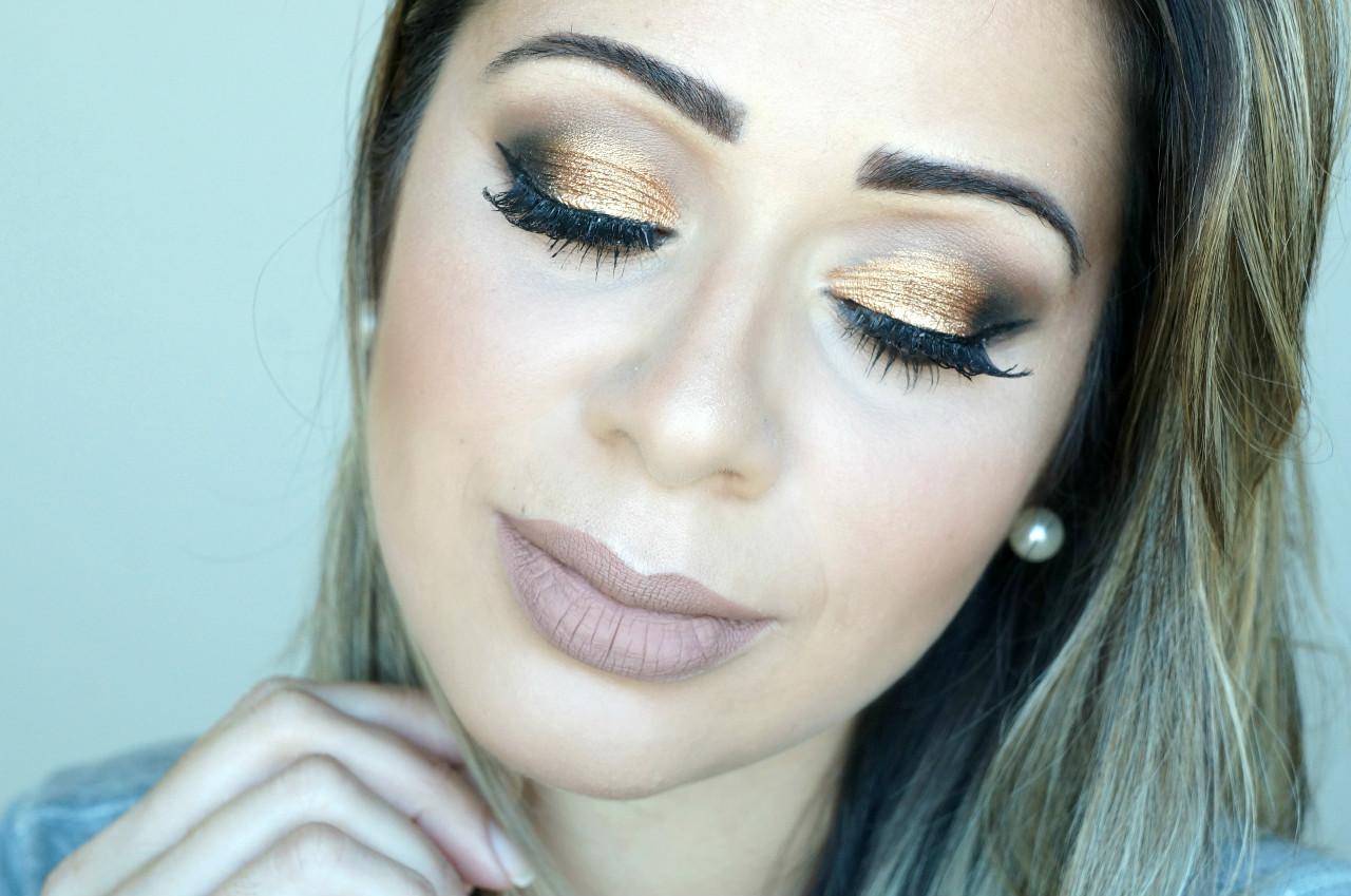 Maquiagem -pálpebra -luz- com- pigmento- dourado-02