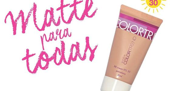 Novo BB Cream com efeito matte Avon Color Trend