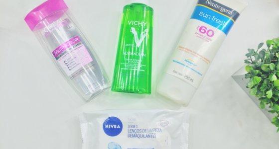 Pele limpa pós maquiagem | Produtos que tenho usado no momento