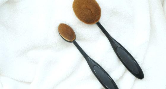 Pincel oval para o rosto | Testa e comenta