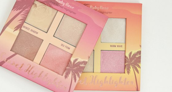 Paleta de iluminadores Sunset highligter – Ruby Rose