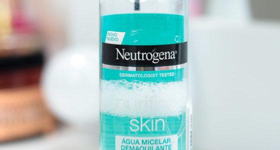 Água micelar demaquilante purified skin Neutrogena
